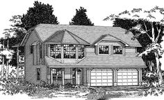 Plan No.202030 House Plans by WestHomePlanners.com