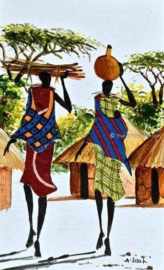 african albert lizah true art com Albert Lizah True African Art comYou can find Tribal art and more on our website African Artwork, African Art Paintings, African Drawings, Black Art Painting, Black Artwork, Painting Tips, Afrique Art, Black Love Art, Art Africain