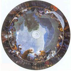 PINTURA ::: Técnica FRESCO - Frescos de Francisco de Goya en la iglesia de San Antonio de la Florida, Madrid. Se considera la culminación de la pintura mural en España