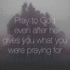 Don't forget to Keep praying!