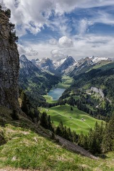 Alpstein. Eastern Switzerland. Photo: Urban Thaler on 500px. Valley Landscape, Paradise Landscape, Landscape Pics, Landscape Tattoo, Spring Landscape, Mountain Landscape, Mountain View, Landscape Fabric, Forest Landscape