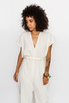 Natural Everyday Jumpsuit, Silk ♡