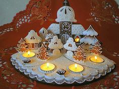 Adventní perníkový svícen / Zboží prodejce Prylovka | Fler.cz Christmas Deserts, Christmas Gingerbread House, Christmas Crafts For Gifts, Christmas Candle, Christmas Decorations, Simple Christmas, Elegant Cookies, Fancy Cookies, Christmas Sugar Cookies