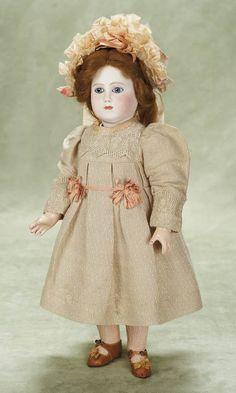 Rare and Lovely French Bisque Bebe Mothereau with J.M. Markings
