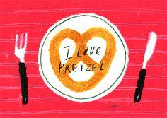 I Love Pretzels via Behance