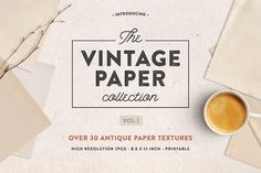 The Vintage Paper Collection Vol.I by Greta Ivy on @creativemarket