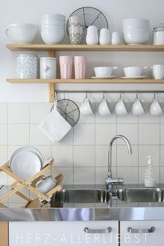 White styling of an IKEA Varde shelf.