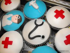 Hospital themed cupcakes to thank your favorite clinicians and physicians