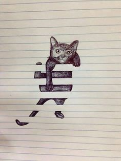 http://www.learnsomething.tips/optical-illusion-drawing-on-lined-paper/