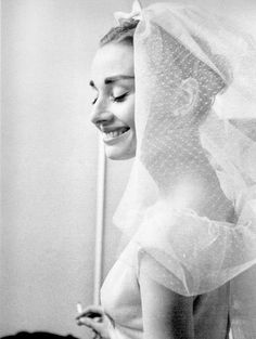 Audrey Hepburn on the set of Funny Face, 1957