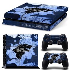 Video Game Accessories Blue Skull Motif Promoting Health And Curing Diseases Sony Ps4 Playstation 4 Pro Skin Sticker Screen Protector Set