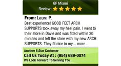 Best experience! GOOD FEET ARCH SUPPORTS took away my heel pain. I went to their store in...