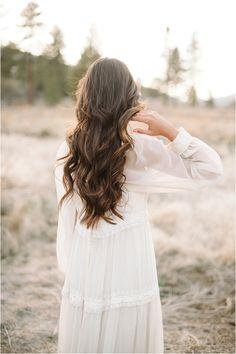 #Romantic long locks  white dresses #2dayslook #new style #whitefashion  www.2dayslook.com