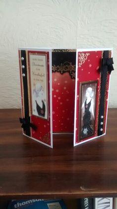 Hunkydory christmas card Christmas Cards To Make, Xmas Cards, Christmas Crafts, Christmas 2016, Kanban Cards, Art Deco Cards, Hunkydory Crafts, Hunky Dory, Girl Birthday Cards