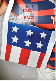 willowday: DIY: Red, White and Blue Duct Tape Bags
