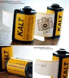 camera film roll invite