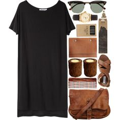 Acorns by vv0lf on Polyvore featuring T By Alexander Wang, Steve Madden, American Apparel, Ray-Ban, Mason Pearson, Jayson Home, Vascolari and Pier 1 Imports