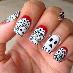 diseño de uñas para halloween