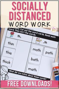 Teaching Kindergarten, Student Teaching, Teaching Reading, Teaching Ideas, Word Study Activities, Phonics Activities, Phonics Words, Spelling Words, First Grade Words