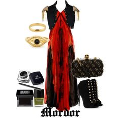 Mordor by theworldinsidemyhead on Polyvore featuring Alexander McQueen, Giuseppe Zanotti, Simply Silver, Make and Butter London