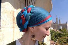 Head covering - Double Braid Wrapunzel Tichel Tutorial (Jewish Style).