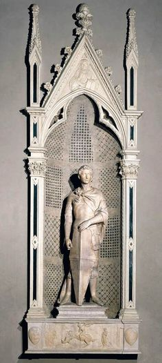 St George  by Donatello, 1416. Marble // Museo Nazionale del Bargello, Florence