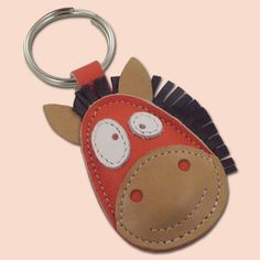 FREE Shipping Ronnie The Cute Little Horse Leather Animal by snis...could be made out of felt