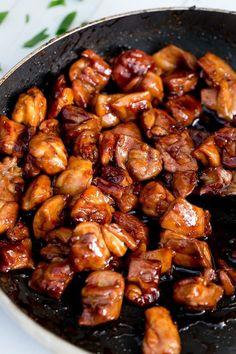 Simple Chicken Teriyaki Stir Fry | http://cafedelites.com #BzzBites #BiteSizedBzz