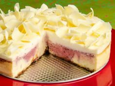 Cranberry Cheesecake Cross Section Marbled Spiced Cranberry & White Chocolate Cheesecake