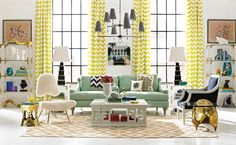 Introducing Jonathan Adler: luxe fabrics, glamorous furnishings, opulent accents and bold accessories