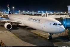 Night Flight - SAA Airbus A340-642