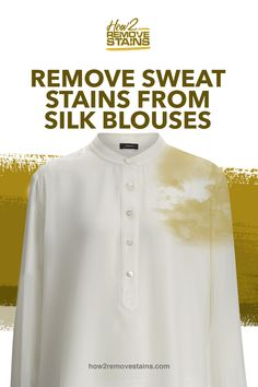 How to remove sweat stains from silk blouses - Remove Sweat Stains, Stain On Clothes, Hair Trim, Silk Blouses, Distilled White Vinegar, White Towels, White Silk, Silk Fabric, Soft Fabrics