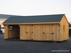 """Whether you need a full-size horse barn in Lancaster PA or you'd like to add some space such as an extra tack room to your existing barn, we've got you (and your horses) covered! What are you waiting for? Quit """"horsing"""" around and contact Homestead Structures today to learn more about our horse barns in Lancaster!"""