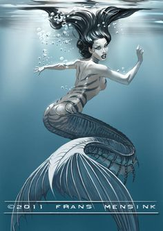 Another Mermaid by FransMensinkArtist.deviantart.com on @deviantART