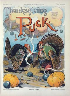 Puck magazine Thanksgiving cover - 1908
