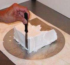 How To Frost a Square Cake & Get Crisp Corners with Buttercream