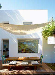 Outdoor dining area - Home and Garden Design Ideas Outdoor Rooms, Outdoor Dining, Outdoor Decor, Dining Area, Outdoor Pergola, Pergola Kits, Outdoor Seating, Outdoor Lighting, Interior Exterior