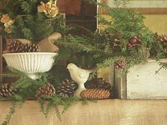 Christmas fireplace mantle...