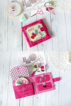 "For small stitch projects! The needlework case holds the shape well. When you want to have an adorable, and yet functional sewing organizer for on the go... this is the needle book for you. Scissors and your tools and needles are handy for wherever and whenever you need them. Measures approx: length (open) - 12""X5.5"" 30X14cm"