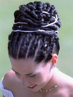 high bun with twist braid