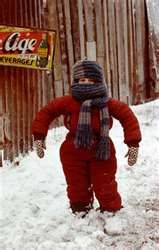 "if your kids are saying ""i cant put my arms down"" then you know their bundled up right~ A christmas story"