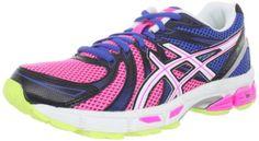 ASICS Womens GEL Exalt Running Shoe,Bright Blue/White/Hot Pink,6 M US