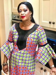 FROM how can l cut this style please African Maxi Dresses, African Fashion Ankara, Latest African Fashion Dresses, African Print Fashion, Africa Fashion, African Attire, African Wear, African Women, African Blouses