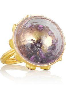 MUNNU The Gem Palace 22-karat gold, amethyst, rubellite and ruby ring | NET-A-PORTER