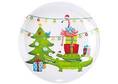 Brighten The Season Wish You Were Here Salad Plate Wish You Are Here, Snow Globes, Christmas Bulbs, Palm, Florida, Seasons, Holiday Decor, Fun, Design