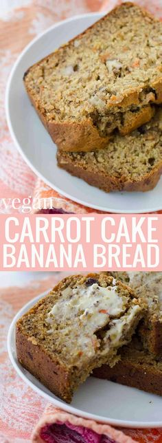 Carrot Cake Banana Bread! This vegan bread option is perfect for Spring and Easter! | Posted By: DebbieNet.com