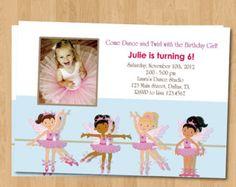 ballet birthday party invitation wording - Google Search