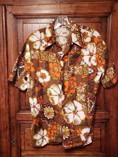 c2951e53d6d Vintage 70s Jantzen Swim Wear Mens Tiki Hawaiian Aloha Casual Shirt Medium