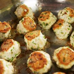 These garlic butter meatballs are low-carb, gluten free, and all around better for you without skipping out on any of the tastiness. Get the recipe at Delish.com. #delish #easy #recipe #glutenfree #lowcarb #healthy #garlic #butter #meatballs #chicken #easy #diet