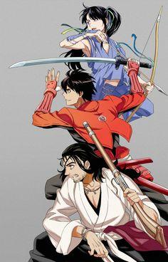 Yoichi, Toyohisa y Nobunaga de Drifters